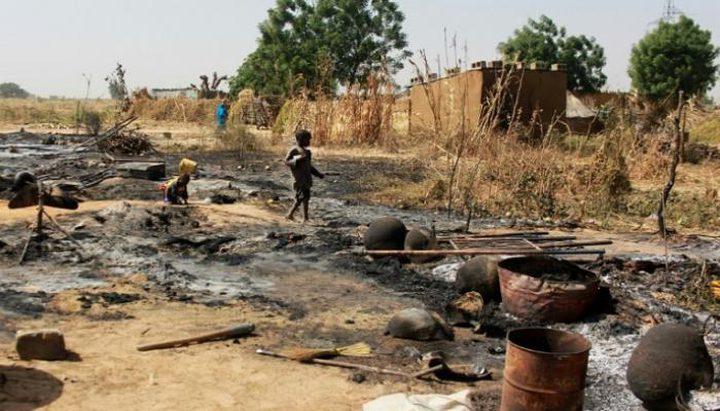 مقتل 59 شخصا في هجوم إرهابي على قرية بنيجيريا