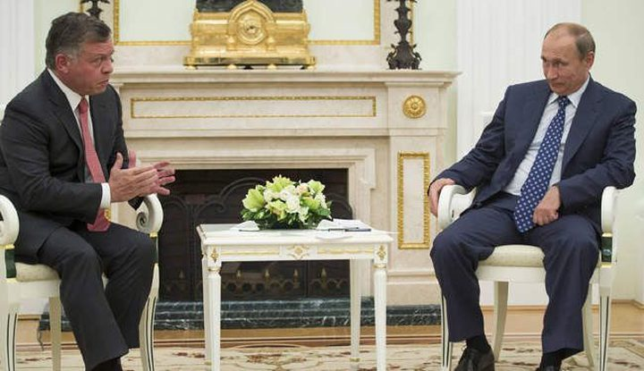 بوتين وملك الأردن يبحثان تطورات القضية الفلسطينية ومكافحة كورونا