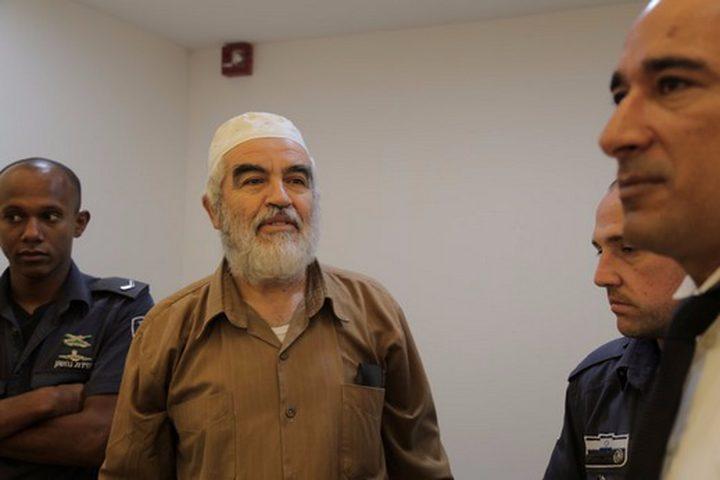 محكمة الاحتلال تنظر في استئناف الشيخ رائد صلاح