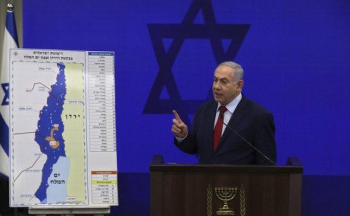 نتنياهو: خطة الضم لأجزاء من الضفة ستتم على عدة مراحل