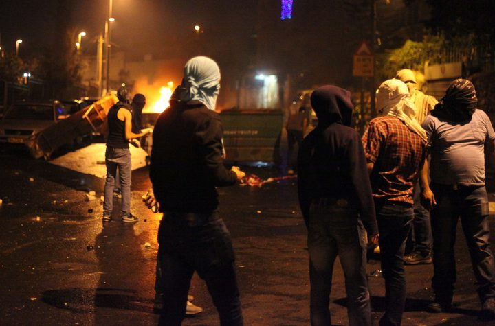 إصابات خلال مواجهات مع قواتالاحتلال في كفر عقب