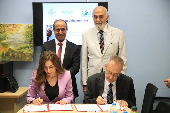 المعهد الفلسطيني للطفولة يوقع اتفاقية مع مؤسسة التعاون