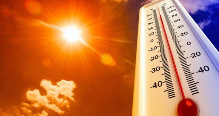 حالة الطقس: أجواء شديدة الحرارة