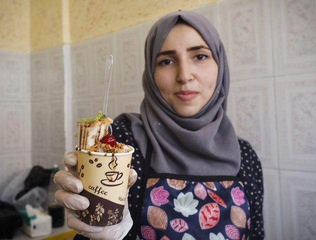 فاطمة الزطمة تكسر حاجز البطالة بمشروعها الخاص بانتاج الايس كريم