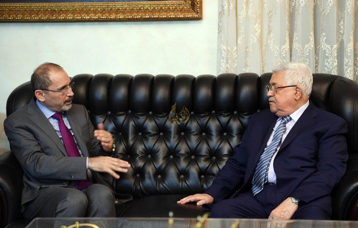 وزير الخارجية الأردني يصل مقر الرئاسة في رام الله