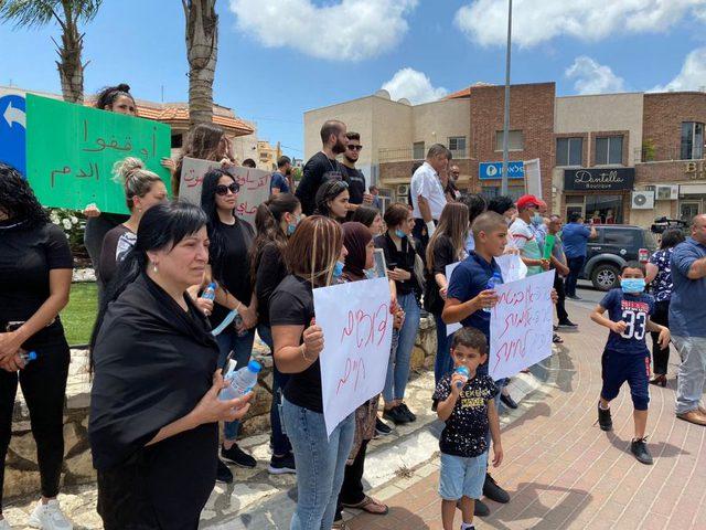 وقفة احتجاجية في كفر ياسيف ضد العنف وتواطؤ الشرطة الإسرائيلية