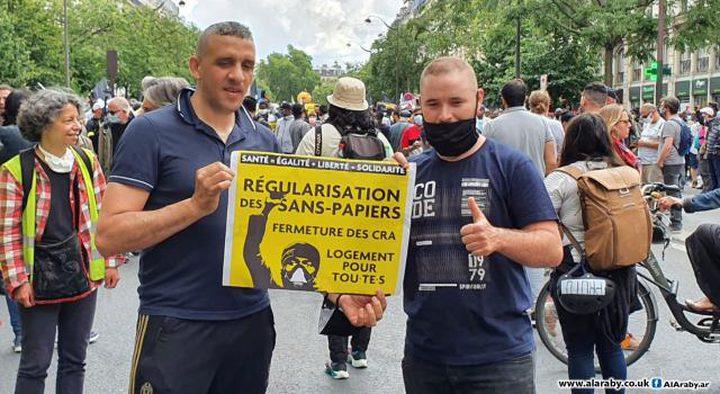 مظاهرات باريس تطالببتسوية أوضاع المهاجرين