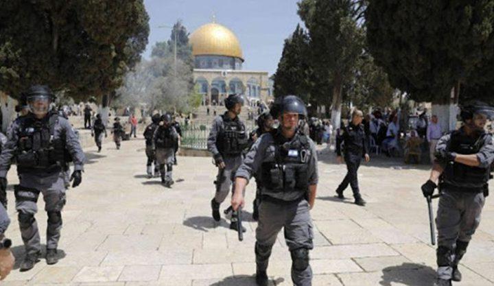 شرطة الاحتلال تعتقل حارسا و5 مقدسيات داخل الأقصى