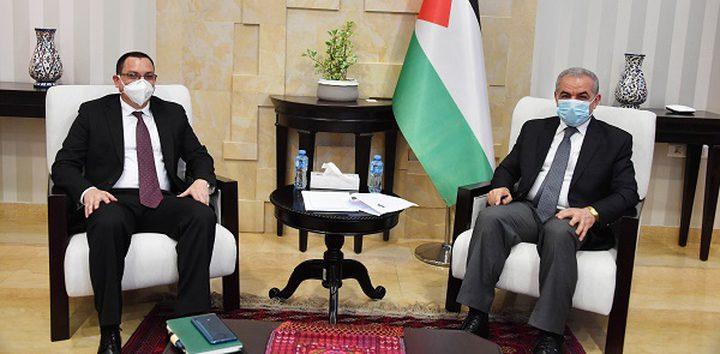 اشتية يستقبل سفير جمهورية نيكاراغوا لدى فلسطين