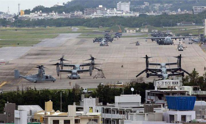 اندلاع حريق في مخزن لمواد خطرة في قاعدة أمريكية باليابان