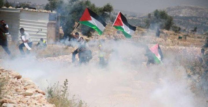 9 اصابات بالرصاص المعدني جراء قمع الاحتلال مسيرة كفر قدوم