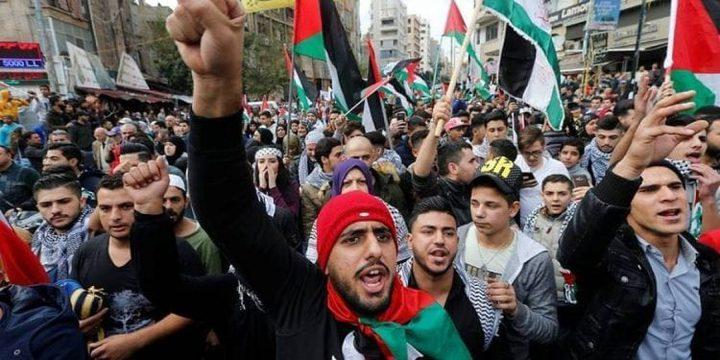 فعاليات رافضة لقرار الضم ومسيرات لدعم للشعب الفلسطيني