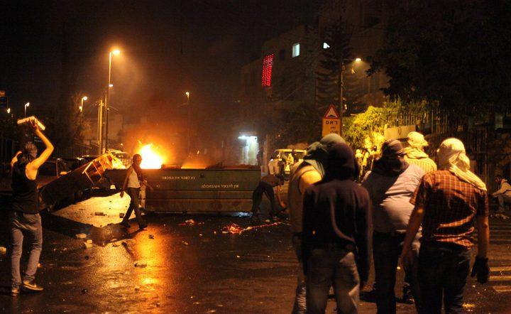 مواجهات مع قوات الاحتلال على مدخل البيرة الشمالي