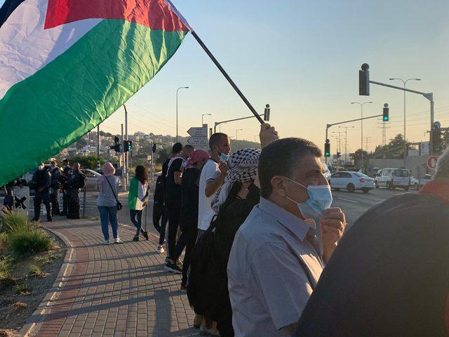 وادي عارة: شرطة الإحتلال تقمع وقفة احتجاجية ضد مخطط الضم