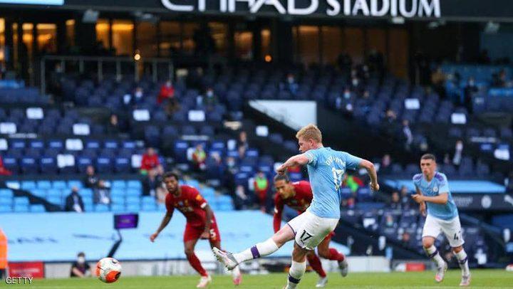 ليفربول بول يتلقى هزيمة مذلة من مانشستر سيتي