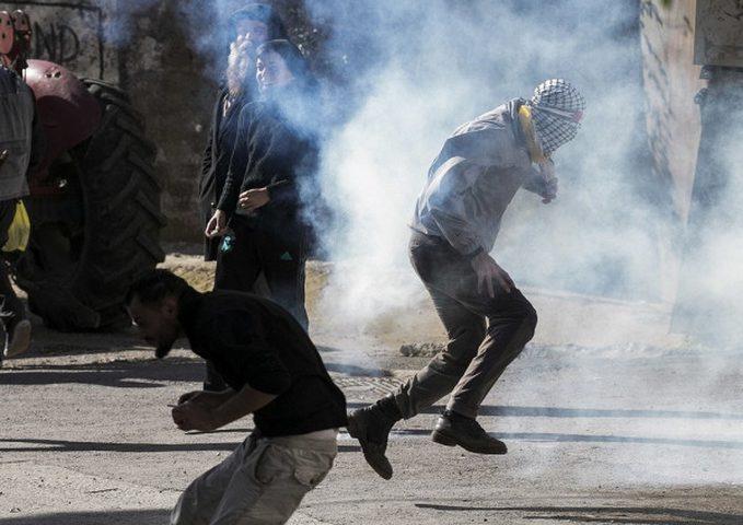 اصابات خلال قمع الاحتلال مسيرة عصيرة الشمالية
