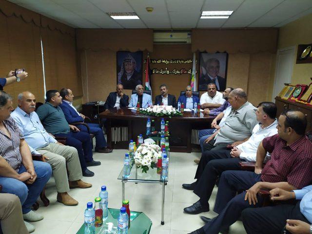 محافظو غزة لاتحاد المقاولين: ندعم مطالبكم العادلة وسنحملها للرئيس