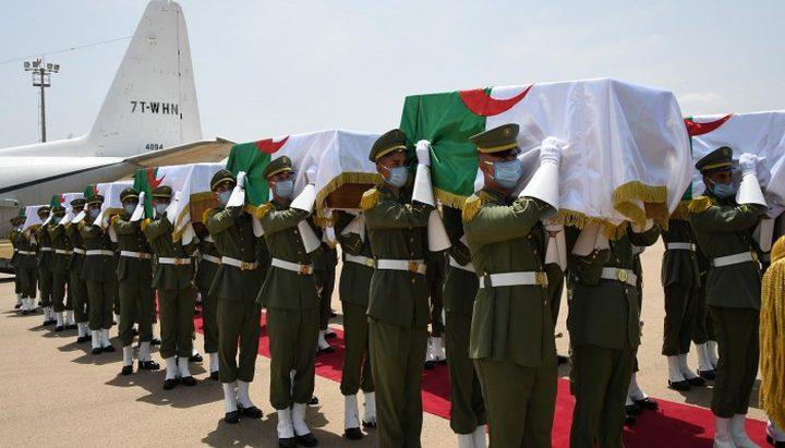 مراسم دفن رفات قادة المقاومة الشعبية في الجزائر