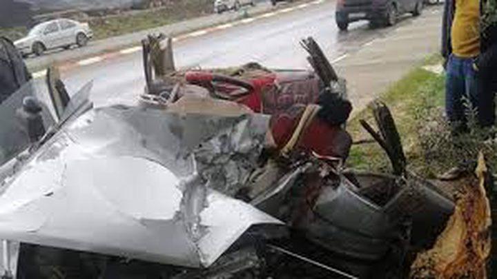 مصرع شخص وإصابة 2 بحادث سير ذاتي شمال طولكرم