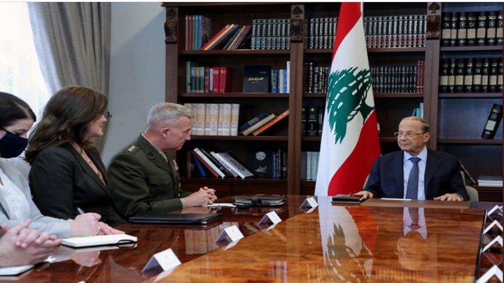 عون ومسؤول أمريكي يبحثان تطوير التعاون العسكري بين البلدين