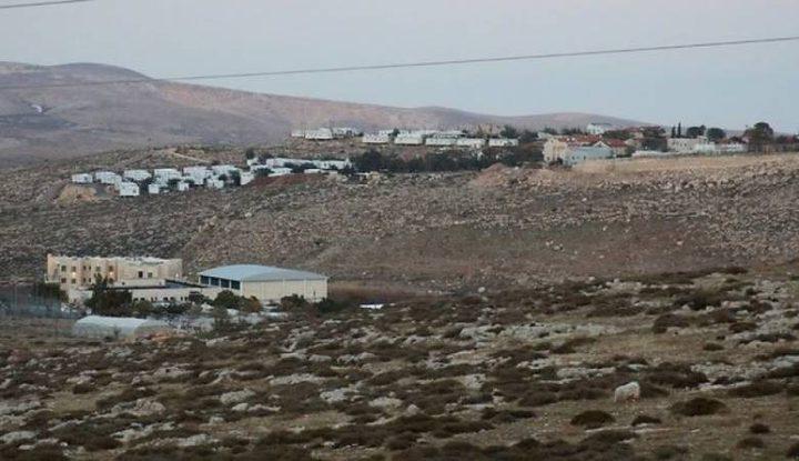 مستوطنون يقيمون بركسات فوق أراضي الساوية جنوب نابلس