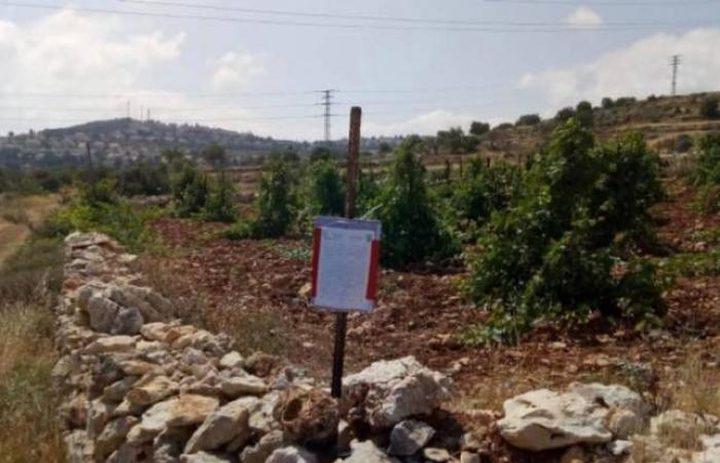 الاحتلال يخطر بهدم غرفة زراعية غرب رام الله