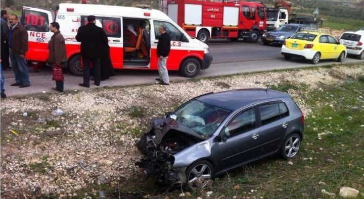 إصابتان في حادث سير غرب جنين