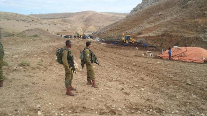 الاحتلال يجري عمليات مسح لأراضٍ في منطقة الحمة بالأغوار