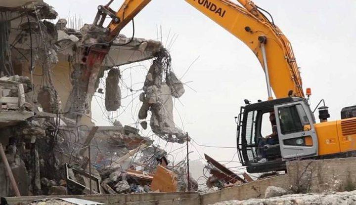 القدس: قوات الاحتلال تهدم منزلا في جبل المكبر