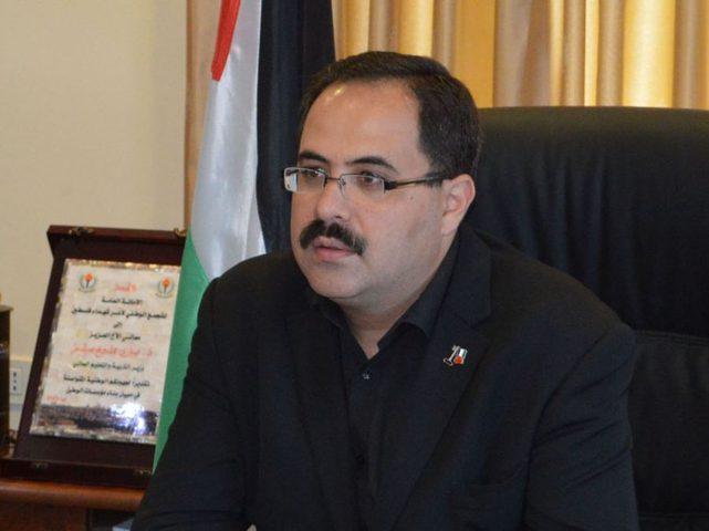 صيدم يطلع ممثل الاتحاد الأوروبي في فلسطين على مخاطر خطة الضم