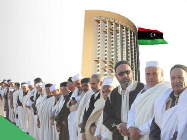 السيسي يلتقي وفد مشايخ وأعيان القبائل الليبية