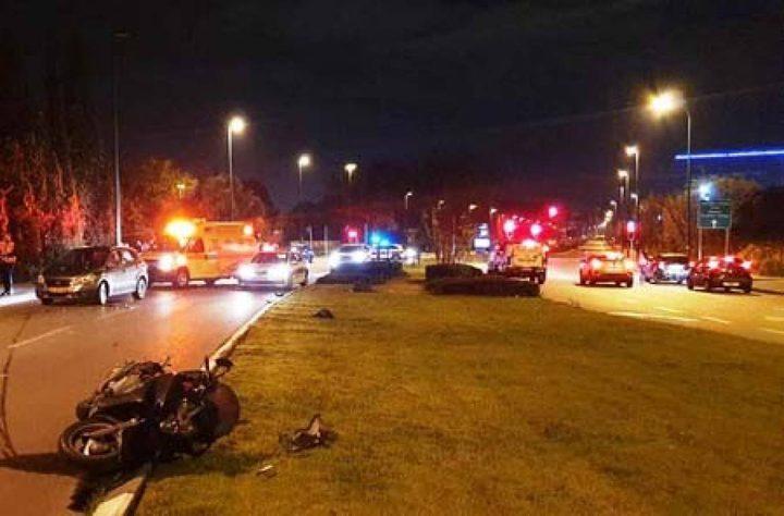مصرع سائق دراجة نارية في حادث ذاتي قرب قرية جت