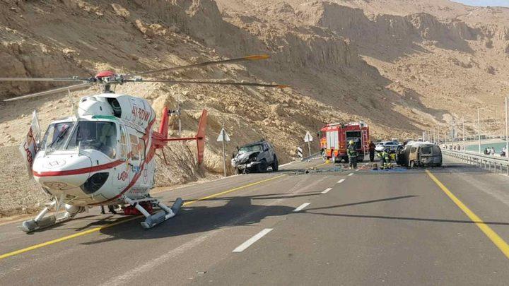 5 مصابين بحادث سير مروع على طريق إيلات