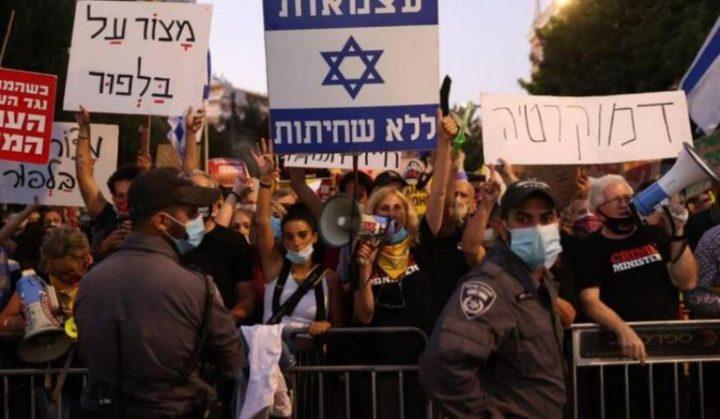 تظاهر آلاف الإسرائيليين ضد نتنياهو احتجاجا على الأزمة الاقتصادية