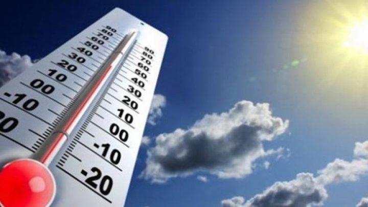 الطقس: درجات الحرارة أعلى من معدلها بحدود 5 درجات