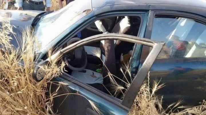 مصرع شاب وإصابة آخرين جراء حادث سير ذاتي شرق الخليل