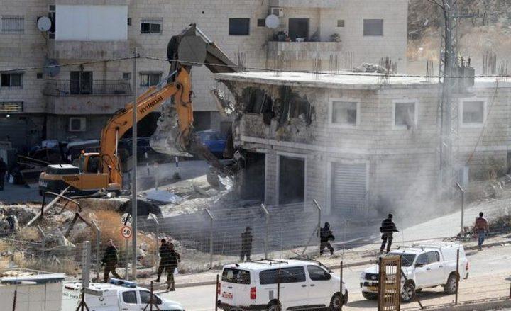 بيت لحم: الاحتلال يهدم منزلا في بلدة الخضر بحجة عدم الترخيص