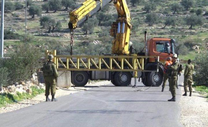 الاحتلال يغلق مداخل بلدة يعبد الفرعية في جنين