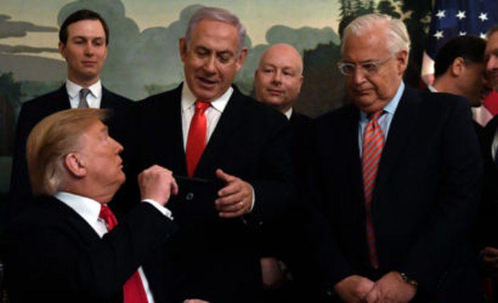 كوشنر: صفقة القرن لا تمنح نتنياهو حرية التصرف بالضفة الغربية