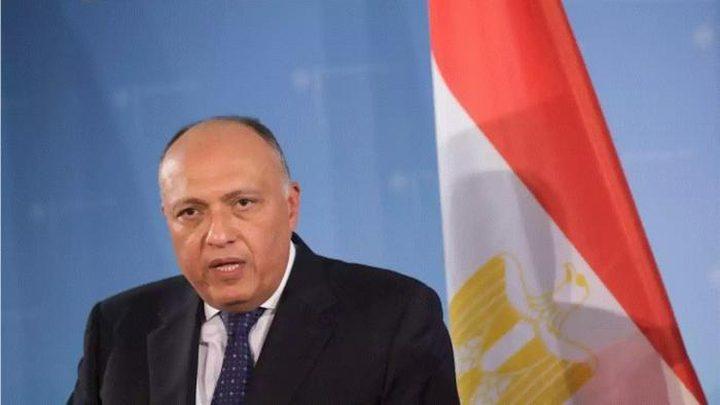 شكري: الحل السياسي في ليبيا لن يتحقق دون وقف التدخلات