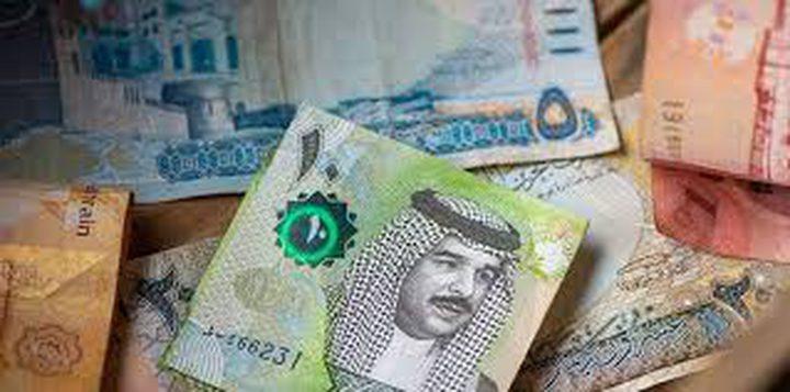 اسعار صرف العملات مقابل الدينار البحريني