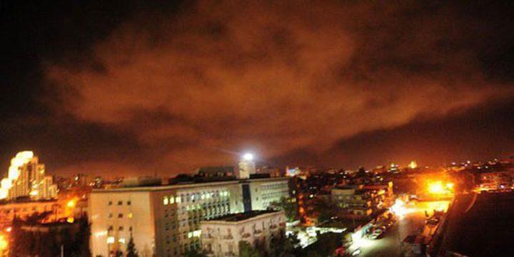 اصابتان إثر قصف طيران الاحتلال لأهداف في سوريا