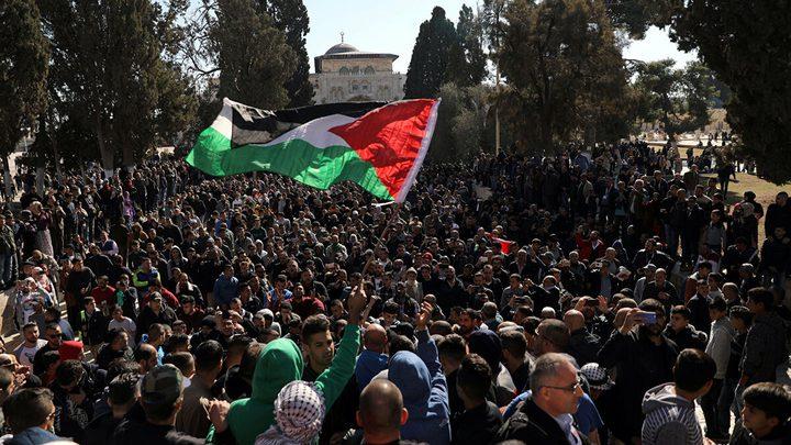مسيرة اسناد للمحافظ غيث والعميد الفقيه والمعتقلين لدى الاحتلال