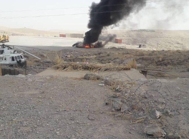 مقتل طيار أفغاني بعد تحطم مروحيته جنوبي البلاد