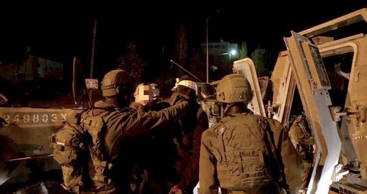 قوات الاحتلال تعتقل تسعة مواطنيين من الضفة