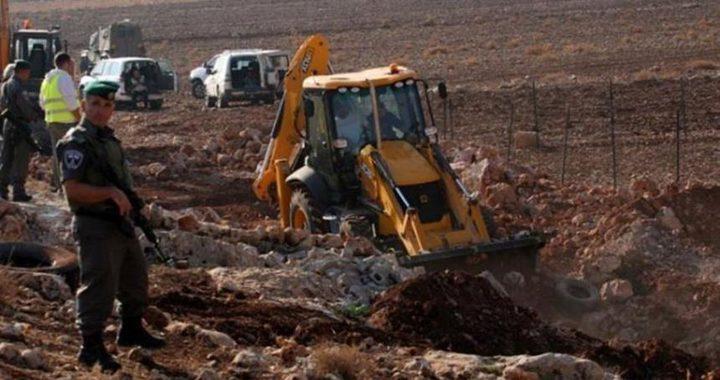 الاحتلال يجرف أراض غرب سلفيت
