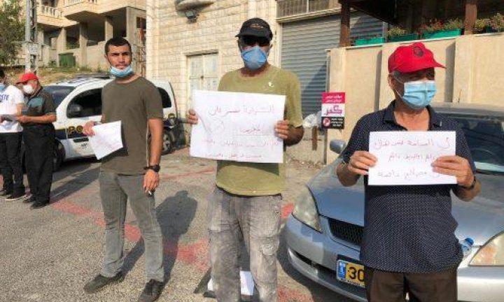 مظاهرة في أم الفحم احتجاجا على جرائم القتل