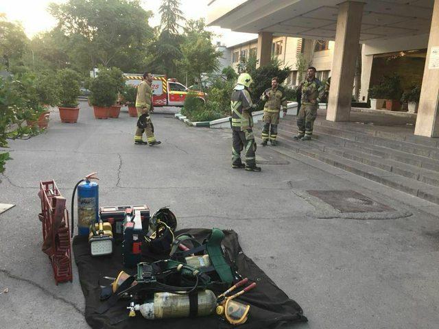 ايران: حريق جزئي في مشفى شريعتي التابع لجامعة طهران
