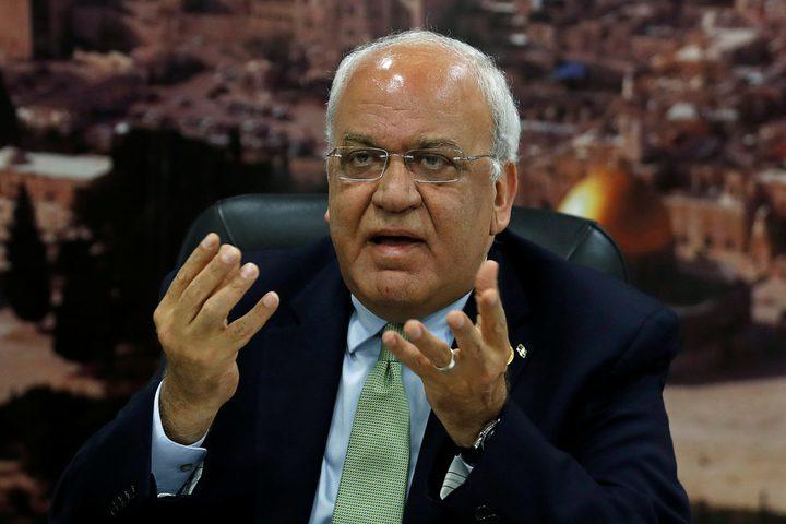 عريقات يدعو لتوفير الحمايةالعاجلة للشعب الفلسطيني وأماكنه المقدسة