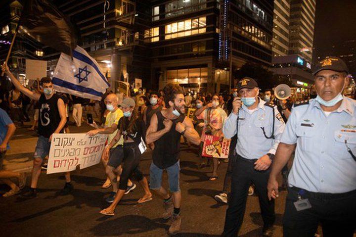 شرطة الاحتلال تقمع المظاهرات الاحتجاجية ضد فشل وفساد نتنياهو